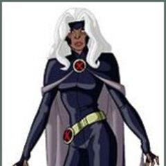 Storm in Xavier's vision of the future.