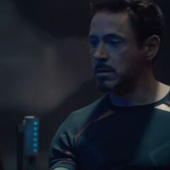 Tony Stark grabbing the Scepter.