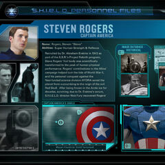 Captain Steve Rogers bio from Marvel's The Avengers Second App.