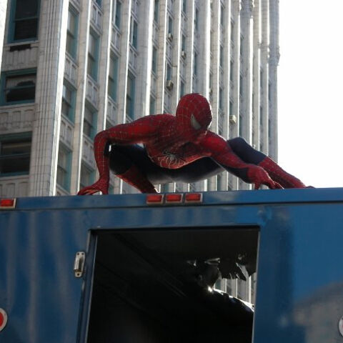 Doubling as Spider-Man in <i><a href=