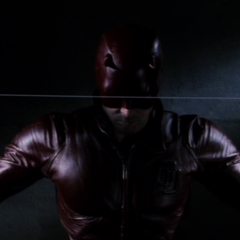 Daredevil with his billy clubs