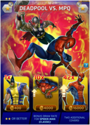 Deadpool vs Marvel Puzzle Quest (Anniversary) Offer