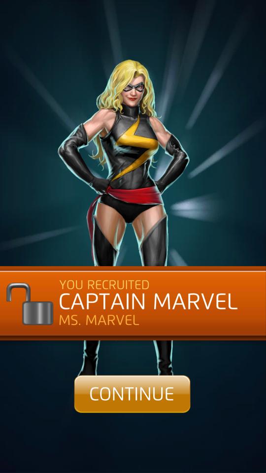 captain marvel puzzle quest