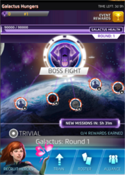 Galactus Hungers Event Screen