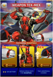 Weapon Tex-Mex Comic (Anniversary) Offer