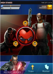 High Stakes Event Screen