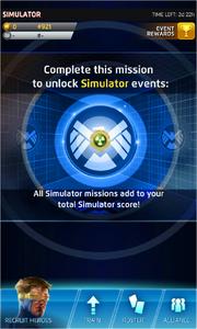 The Simulator Event Screen