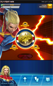 Fly-Fight-Win Event Screen