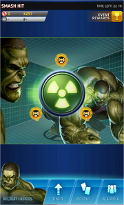 Smash Hit Event Screen