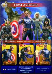 First Avenger Comic (Season VI) Offer
