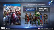 Avengers Game Pre-Order Content
