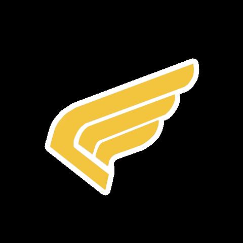L'insigne utilisé par les Commandos Hurlants sur leurs uniformes qui font allusion aux ailes sur le <a class=