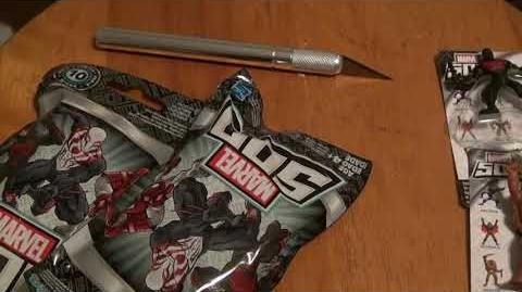 Marvel 500 Series 10 4 blind bags unopened.
