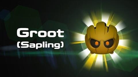 Groot (Sapling) Skills Intro MARVEL Tsum Tsum