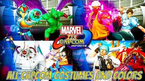 Marvel vs Capcom Infinite All CAPCOM Character Colors and Costumes (With NPC's Monster Hunter )