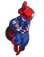 Captain America MSHvSF artwork
