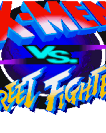 xmen vs street fighter logo png