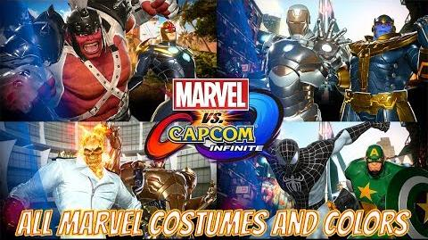 Marvel vs Capcom Infinite - All MARVEL Character Colors and Costumes (With NPC's)
