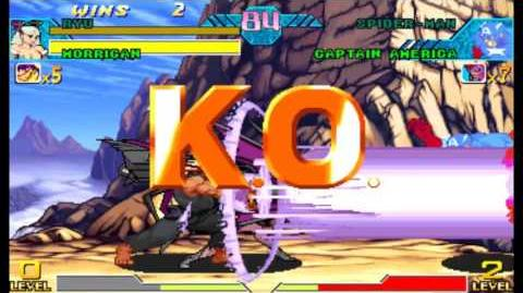 Marvel Vs. Capcom Clash Of Super Heroes - All Crossover Combination Finish