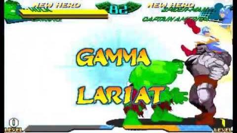 Marvel Super Heroes Vs. Street Fighter - All Crossover Combination Finish