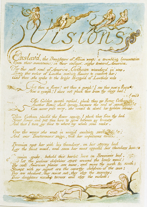 william blake visions of the daughters of albion