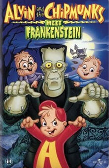 Alvin and the chipmunks meet frankenstein vhs cover