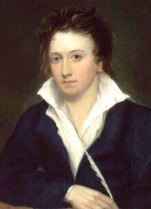 Percy Bysshe Shelley by Alfred Clint crop