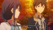 Masamune kun EP 12 parque Aki y Masamune hablando