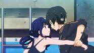 Aki y Masamune en piscina 3