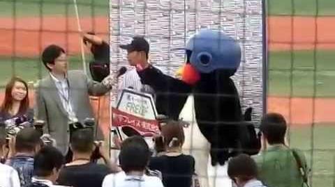 上田剛史人生初のサヨナラ打ヒーローインタビューは若干すべり気味