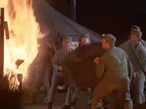 MASH 6x5 - Sidney and Potter at camp bonfire