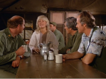Ep 10x3 - The gang in the mess hall