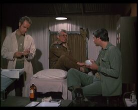 MASH episode-4x6 Hawkeye and BJ with Col. Griswold