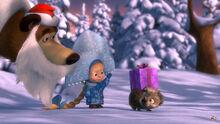 03 Медведь, Маша и ёжик