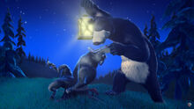 01 Медведь и волк