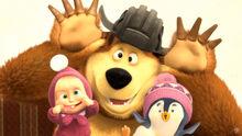 32 Маша Медведь и Пингвинёнок 4