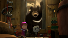 51 Гималайский медведь, Маша и Панда
