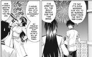 Masou Gakuen HxH manga Reiri drinking