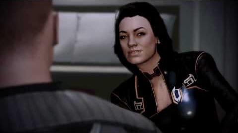 Mass Effect 2 - Shepard Kisses Miranda