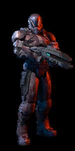 Soldat humain homme MP ME3