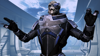 I'm garrus vakarian, and this is now my favorite spot on the citadel