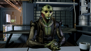 Thane in his quarters