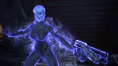 Liara using warp