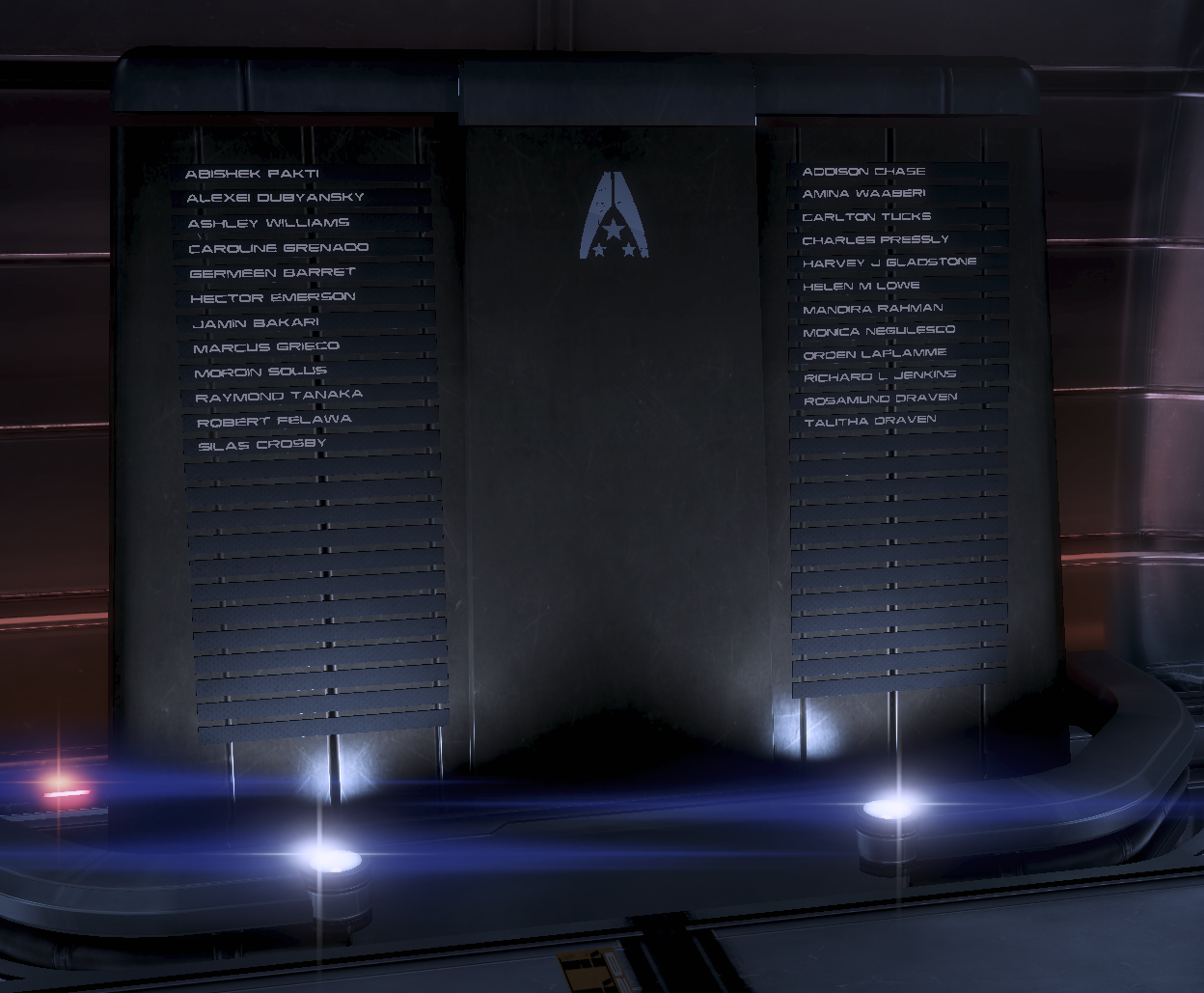 Image result for mass effect memorial wall