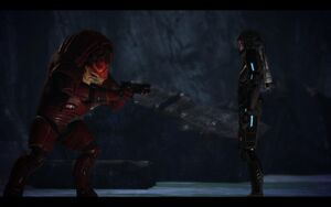 Me1 wrex and shepard on virmire by chicksaw2002-d57p8a2