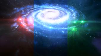 Ausbreitung der drei Tiegel-Energiewellenüber die Milchstraße ME3 Pic