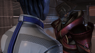 Liara-javik confrontation - friendly resolution
