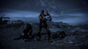 ME3 Бартус с отрядом