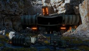 Planetside alien ruin