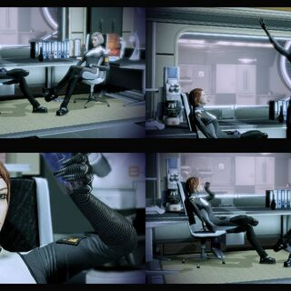Чаквас и Шепард. «Mass Effect 2»